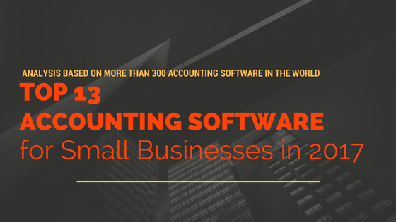 Top 13 Best Accounting Software for Small Businesses in 2017